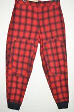 vtg 50s Woolrich Red Black Wool Hunting Checked Buffalo Plaid Pants 36 X 31
