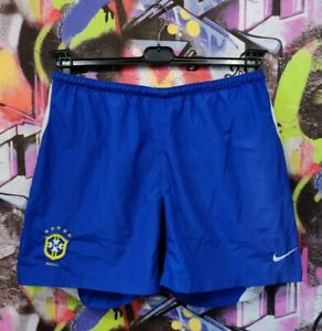 Brazil National Football Team Brasil CBF Soccer Shorts Vintage Nike Mens L/XL
