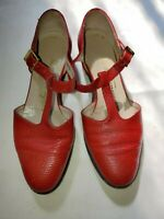 Red Salvatore Ferragamo Leather Buckle Shoes Size 4B