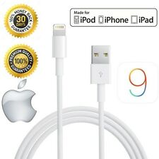 Blanco Relámpago a USB 1m Cable Cargador para Iphone 5 5s 5c 6 IPOD