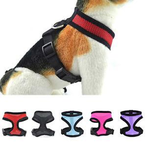 Strap Mesh Vest Dog Puppy Walk Collar Soft Safety Adjustable Pet Control Harness