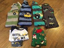 Boys size 18 months Fall / Winter Pajamas Lot Of 8-Trucks~EC~Carter's, Little Me