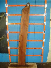 "#7644 spalted pear live edge slab rustic wood lumber 82""L 10 3/4""W 13/16T"