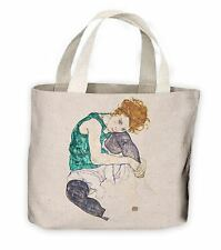 Egon Schiele Seated Woman With Bent Knee Tote Shopping Bag For Life