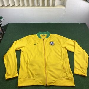 Nike Brazil Brasil Men's Xl CBF Soccer Futbol Full Zip Warm-Up Track Jacket