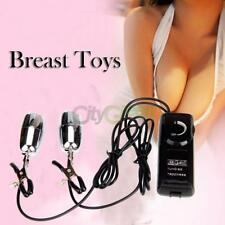 Double Nipple Clamps Breasts Vibrator Massager Bullet Eggs Sex Toy Stimulator