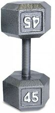 CAP Barbell 45 Lb Grey Cast Iron Hex Dumbbell