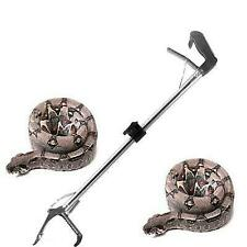 New listing 120cm Reptile Snake Tongs Stick Grabber Catcher Heavy Duty Folding Self Locking