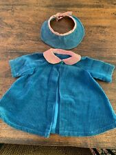 "Vintage 1950'S Handmade Coat & Hat Doll Clothes For 22"" Doll"