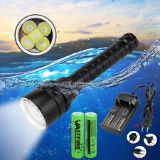 20000Lm 5x XML LED Diving Scuba Flashlight Torch 18650 Underwater 100m Lighting