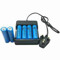 6 PCS 18650 3.7V 5000mAh Li-ion Rechargeable Battery With 4.2V 18650 Charger