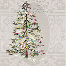 "Crystal Christmas Tree Paper Luncheon Napkins 40pcs 13""x13"""