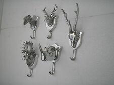 wall mount stag moose rhino greyhound skull coat hook Set of 5 f HOME DECOR EDH