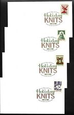 US FDC 2007 Christmas Knits 4 Unaddressed Uncacheted First Day Covers |