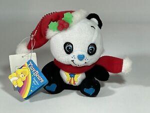 "NWT Care Bears 4"" Sitting Perfect Panda Bear Christmas Plush Keychain"