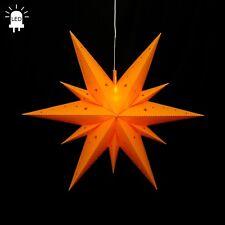 LED étoile de l'Avent plié ETOILE Ø60 Star en plein air Noël 11 Zigzag Jaune