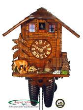 Black Forest Cuckoo Clock 8-Day Swiss Chalet & Deer NEW