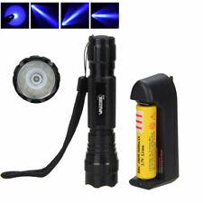 WF-501B 365NM Blue LED Ultra Violet Blacklight Flashlight Torch 18650 Light Lamp