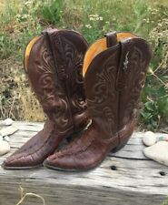 USA Hornback Alligator Cowboy Boots Hand Crafted At Stallion - Size W:7C
