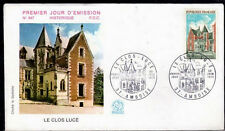 FRANCE FDC - 856 1759 2 LE CLOS LUCE AMBOISE 23 6 1973