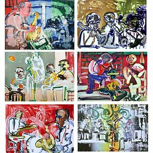 Jazz Suite (Music), 6 Limited Edition Lithographs, Romare Bearden