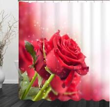 Shower Curtain Hooks Bathroom Toilet Bath Shower Cover Art Decor Flower Painting