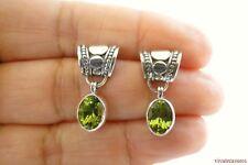 Green Peridot 925 Sterling Silver Dangle Drop Stud Post Earrings