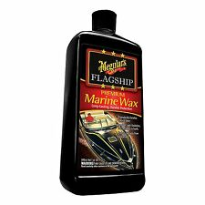 MEGUIAR'S FLAGSHIP PREMIUM MARINE BOAT WAX 32oz UV protection, Hand or Polisher