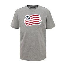 MLS New England Revolution Boys Shirt, Gray - Size XL