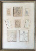 8 SKIZZEN H.C. MONOGRAMM 1926 - EXPRESSIV - HUGO CARLBERG (1880-1943)