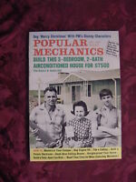 POPULAR MECHANICS Magazine November 1969 BUILD a HOUSE Apollo 12