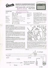 Graetz  Page 1232K  Kofferradio 1963 Schaltplan Manual Original  -