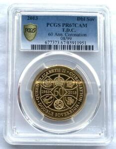 Tristan Da Cunha 2013 Coronation 2 Sovereign PCGS PR67 Gold Coin,Proof