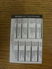 2001/2002 Reading: Fixture Card (issued by Clubcall). Thanks for viewing our ite