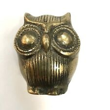 Vintage Brass Owl 70's Mid Century Modern Animal Figurine Retro MCM Decor VTG