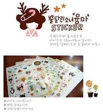 #17 Cute moose girl cartoon pvc stickers notebook diary decoration 6 sheets/set