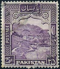 PAKISTAN VALEUR 25RS LEGERE OBLITERATION