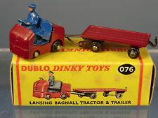 DINKY DUBLO MODEL  No.076 LANSING BAGNALL TRACTOR & TRAILER    MIB