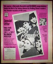 """1980 Blondie """"Autoamerican"""" Album Promo Ad"""