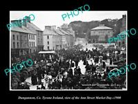 OLD LARGE HISTORIC PHOTO OF DUNGANNON TYRONE IRELAND, ANN ST MARKET c1900 1