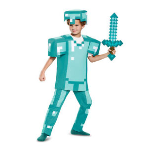 Licensed Minecraft Armor Deluxe Toys Games Character  Costume Child Boys 65662