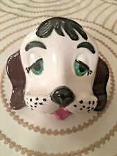 Vtg Arner Arnell Dog Ceramic Puppy Head Glasses Stand Eyeglass Holder Black EUC!