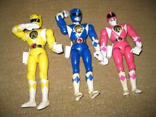 "Mighty Morphin POWER RANGERS Bandai 1994 action figures lot 8"" dolls chop kick"