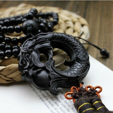 Kirin Dragon Wood Boxwood Antique Figurines Handcrafted Netsuke Carving