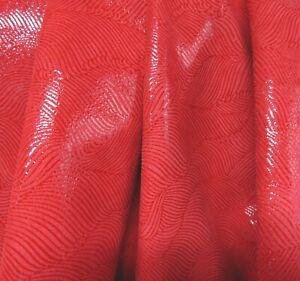 Lederhaut  Rindleder Rot abstraktes Muster Velours S190332209 versch. Größen