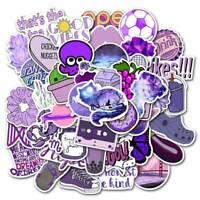 50Pcs Purple Series Cartoon Decorative Stickers For Laptop Bike Skateboard Cxz