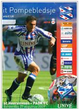 Programme Heerenveen Netherlands - PAOK Thessaloniki Greece 2009 Europa League