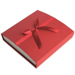 Grand Écrin pour Collier / Parure - ROUGE - Boite Cadeau Nœud Ruban - Bijoux