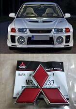 For Mitsubishi Lancer Evo 5 6 Front Red Emblem 1995-2001