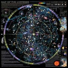 MAP OF THE UNIVERSE POSTER northern hemisphere galaxies stars planets chart